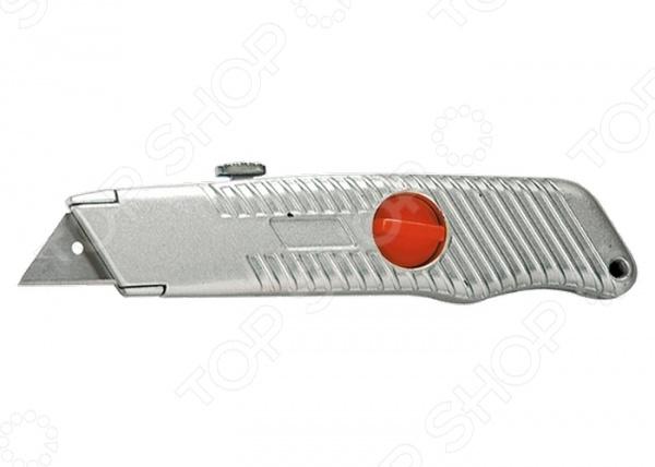 Нож строительный MATRIX 78964Строительные ножи<br>Нож MATRIX 78964 станет отличным дополнением к вашему строительному инвентарю. При помощи представленной модели, вы с легкостью заточите карандаш, отрежете необходимый кусок картона или линолеума. Эргономичная металлическая рукоятка обеспечит надежный и уверенный хват. Она состоит из двух частей, которые фиксируются пластиковым винтом. Трапециевидное выдвижное лезвие фиксируется автоматически, поэтому не западет внутрь во время работы.<br>