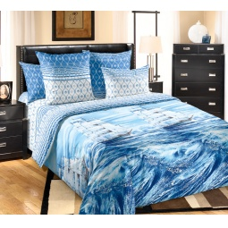 фото Комплект постельного белья Королевское Искушение с компаньоном «Белый парус». 2-спальный. Размер простыни: 220х195 см