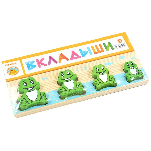 Игрушка развивающая Томик «Доска-Вкладыш. Лягушка Больше-Меньше» развивающая игрушка rubbabu лягушка 10 см в ассортименте