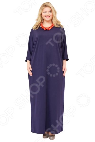 Платье Матекс «Азалия». Цвет: синийПовседневные платья<br>Платье Матекс Азалия это легкое платье, которое поможет вам создавать невероятные образы, всегда оставаясь женственной и утонченной. Грамотный крой и цвет скрывают недостатки фигуры и подчеркивают достоинства. В этом платье вы будете чувствовать себя блистательно как на празднике, так и на вечерней прогулке по городу.  Платье свободного прямого кроя. Фасон визуально корректирует недостатки в области живота и боков.  В боковых швах два небольших кармана.  Круглый вырез горловины подчеркнет красоту вашей шеи.  Широкие рукава. Платье сшито из плотной трикотажной ткани, материал приятен на ощупь и хорошо тянется. Не линяет, не скатывается, формы от стирки не теряет.<br>