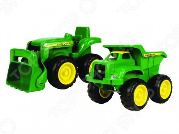 Набор машинок Tomy «Бульдозер и самосвал» игровые наборы tomy игровой набор приключения трактора джонни и лошади на ферме