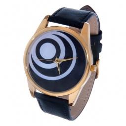 фото Часы наручные Mitya Veselkov «Черные диски» Gold