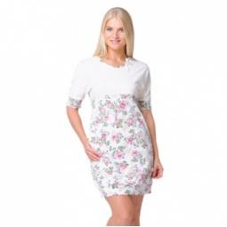 фото Платье женское Santi AW15-UAT-LDS-943. Рисунок: молочные розы. Размер одежды: 54-56