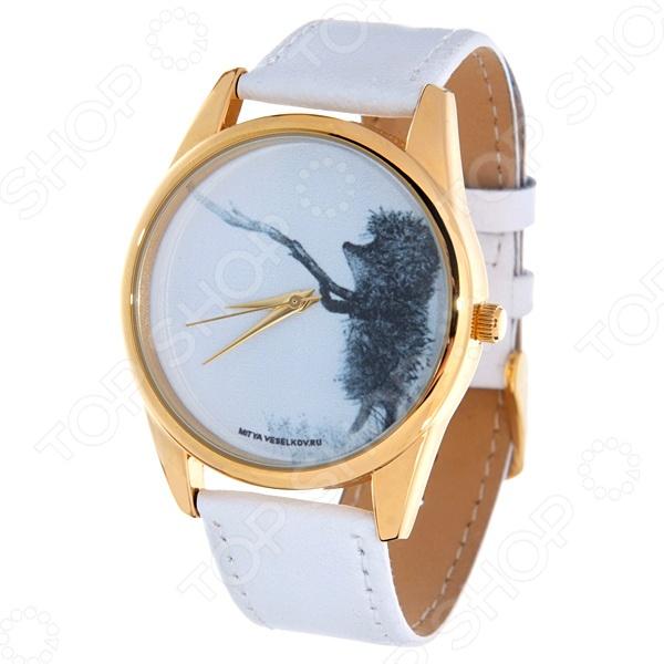 Часы наручные Mitya Veselkov «Ежик с веточкой» Shine