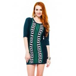фото Платье Mondigo 9872. Цвет: темно-зеленый. Размер одежды: 42