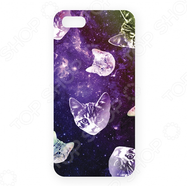 Чехол для iPhone 5 Mitya Veselkov «Кошки в космосе»