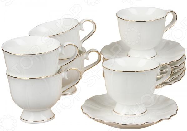Чайный сервиз Rosenberg 8723Чайные и кофейные наборы<br>Чайный сервиз Rosenberg 8723 станет украшением вашего стола. Красивое оформление стола как праздничного, так и повседневного это целое искусство. Правильно подобранная посуда это залог успеха в этом деле. Такой чайный сервиз придется по вкусу даже самым требовательным хозяйкам и придаст особый шарм и очарование сервируемому столу. В набор входят шесть чашек объемом 200 мл и 6 блюдец.<br>