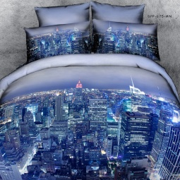 фото Комплект постельного белья с эффектом 3D Buenas Noches City. 2-спальный