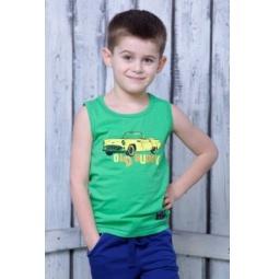 фото Майка для мальчика Detiland SS15-UET-BTP-904. Цвет: зеленый. Рост: 104 см