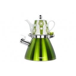 фото Чайный набор Vitesse Classic VS-7812. Цвет: зеленый
