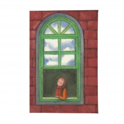 фото Визитница Mitya Veselkov «Девушка в зеленом окне»