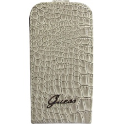 фото Чехол Guess Flip Case Croco для Samsung S3 Mini. Цвет: бежевый