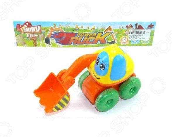 Игрушка инерционная Shantou Gepai «Забавный экскаватор» экскаватор shantou gepai экскаватор с ковшом красный 15 см