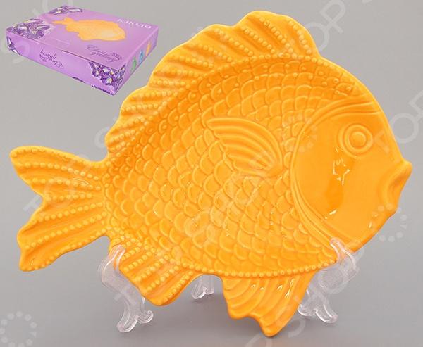 фото Блюдо Elan Gallery «Рыбка». Длина: 28 см, Сервировочные блюда