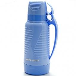фото Термос и 2 чашки Mayer&Boch Wavy. Объем: 1 л. Цвет: синий