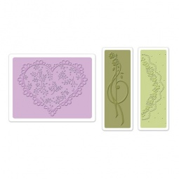 фото Набор форм для эмбоссирования Sizzix Textured Impressions Кружевное сердечко