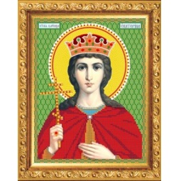 Купить Набор для вышивания бисером Светлица «Святая Великомученица Екатерина»