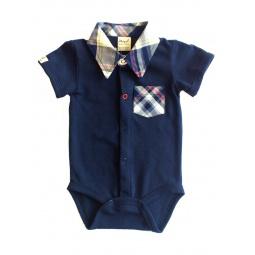 фото Боди-сорочка для новорожденных Ёмаё 24-926. Цвет: синий. Размер: 48. Рост: 74-80 см