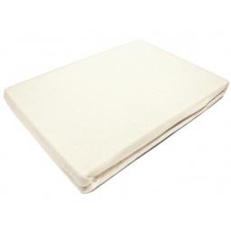 фото Простыня на резинке трикотажная ЭГО. Цвет: молочный. Размер простыни: 180х200 см