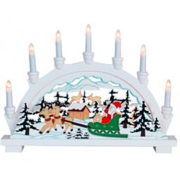 фото Декорация-семисвечник Star Trading 270-59 «Санта в санях»