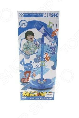 Игрушка музыкальная Shantou Gepai «Микрофон на стойке» 72386 развивающая игрушка b dot микрофон okideoki от 18 мес