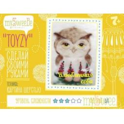 Купить Набор для создания картины из шерсти mySweeBe «Влюбленная сова»