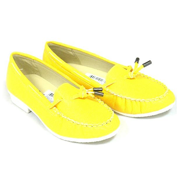 51f23ac00 Мокасины женские АЛМИ Лето. Цвет: желтый купить по низкой цене в ...