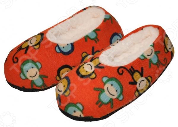 Тапочки-балетки детские «Веселые обезьянки». В ассортименте