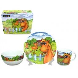 Купить Набор посуды для детей Elan Gallery «Лошадки на лугу»