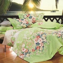 фото Комплект постельного белья Amore Mio Flower. Provence. Евро