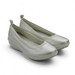 Купить Балетки элегантные Walkmaxx Comfort 2.0. Цвет: серебряный