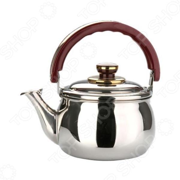 Чайник со свистком Mayer&amp;amp;Boch MB-7780Чайники со свистком и без свистка<br>Чайник со свистком Mayer Boch MB-7780 - выполнен из долговечной и прочной стали, которая не окисляется и устойчива к коррозии. Объем чайника составляет 2 литра, оснащен свистком, благодаря которому вы можете не беспокоиться о том, что закипевшая вода зальет плиту. Как только вода закипит - свисток оповестит вас об этом. Капсулированное дно с прослойкой из алюминия обеспечивает наилучшее распределение тепла. Ручка чайника, а так же ручка крышки изготовлены из специального теплоустойчивого материала, который не обжигает руки. Удобный и практичный чайник отлично впишется в интерьер любой кухни. Можно мыть в посудомоечной машине.<br>