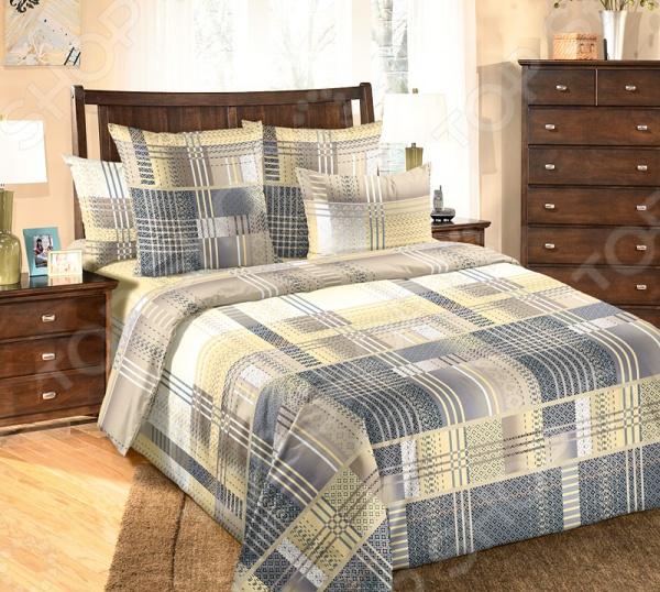 Комплект постельного белья Белиссимо «Лабиринт». ЕвроЕвро<br>Комплект постельного белья Белиссимо Лабиринт из набивной бязи, натуральный хлопок. Высококачественный материал гарантирует комфорт и уют во время сна, оптимальный баланс влажности и температурный режим. Благодаря большом выбору расцветок и стилей, каждый сможет найти именно тот комплект, который подойдет ему на все 100 . Каждый из предложенных дизайнерских рисунков обязательно найдет своего обладателя. Такой комплект выдержит большое количество стирок в стиральной машине: ткань не истончится, а рисунок сохранит первозданную яркость и красоту. Белье не требует особого ухода для возвращения свежести и очищения достаточно будет обычного режима стирки. В комплекте представлены: пододеяльник 220х200 см, простыня 220х240 см, 2 наволочки 70х70 см.<br>