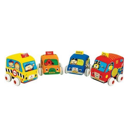 Купить Машинки инерционные мягкие K'S Kids KA459, 4 штуки