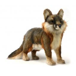 фото Мягкая игрушка для ребенка Hansa «Серая лисица стоящая»