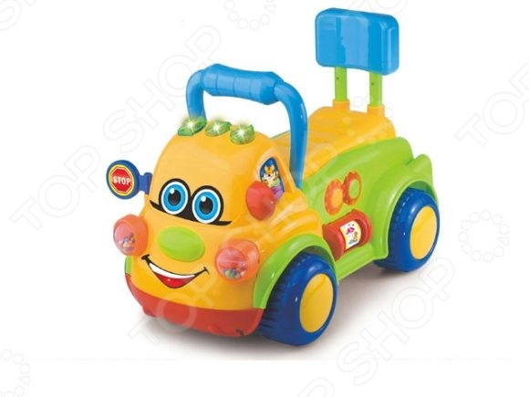 Машина-каталка со звуком Shantou Gepai «Веселая машинка»