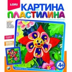 Купить Набор для создания картины из пластилина Lori «Цветочек»