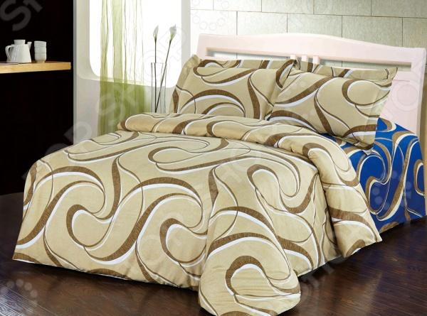 Комплект постельного белья Softline 10343. 2-спальный2-спальные<br>Комплект постельного белья Softline 10343 это сочетание прекрасного качества и стильного современного дизайна. Он внесет яркий акцент в интерьер вашей спальной комнаты, добавит ей элегантности и изысканности. В набор входит пододеяльник, простынь и две наволочки с воланами. Составляющие комплекта выполнены из натурального хлопка и украшены оригинальным принтом. Хлопковое волокно отлично зарекомендовало себя в пошиве постельного белья, благодаря легкости, практичности, воздухопроницаемости и устойчивости к истиранию. Ткани и готовые изделия производятся на современном импортном оборудовании и отвечают европейским стандартам качества. Рекомендуется стирать белье в деликатном режиме без использования агрессивных моющих средств.<br>