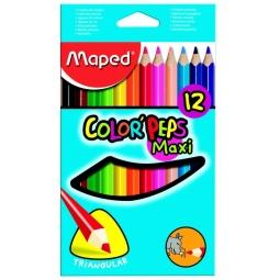 фото Набор цветных треугольных карандашей Maped Maxi