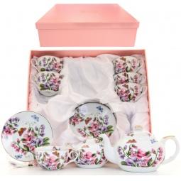 Купить Чайный набор с чайником Elan Gallery «Душистый цветок»