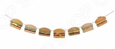 Гирлянда Doiy BurgerДругие элементы декора<br>Гирлянда Doiy Burger это необычная гирлянда, которая изменит ваше представление о духе вечеринок! Если вы собираетесь устраивать тематическую вечеринку, то приобретите эту гирлянду и бургер-пати станет незабываемым! Эта гирлянда подойдет для украшения не только вечеринок, но и в качестве постоянного украшения в барах, кафе или ярмарках. В наборе 35 бумажных флажков и 15 метров верёвки.<br>