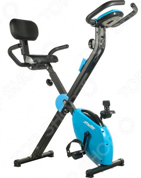 Велотренажер Star Fit BK-108 X-bikeВелотренажеры<br>Велотренажер Star Fit BK-108 X-bike современная модель домашнего тренажера с магнитной системой изменения нагрузки. Это удобная эргономичная модель станет отличным выбором для тех, кто заботится о своем здоровье и хочет поддерживать себя в хорошей физической форме. Основное преимущество таких тренажеров возможность заниматься спортом в любое время. Эта модель рассчитана на любителей и продвинутых пользователей, и не подходит для профессиональных тренировок. Велотренажер занимает очень мало места и компактно умещается даже в маленькой комнате. На нем вы сможете укрепить мышцы ног и спины, а также, кардиотренировка на велотренажере улучшает работу кровеносной системы. Данная модель работает на усовершенствованном, очень тихом, магнитном механизме, который позволяет заниматься на тренажере, даже если кто-то спит. В системе запрограммировано восемь уровней нагрузки, которые обеспечивают полноценную работу мышц со стремительным прогрессом. На руле установлен дисплей LCD, который показывает самые главные параметры: время, скорость, дистанцию и калории. Удобное эргономичное сиденье и педали с фиксирующими ремнями позволят полностью погрузиться в занятие. Велотренажер X-bike оснащен более мягкой плавностью хода, что делает симуляцию максимально похожей на велосипедную езду.<br>