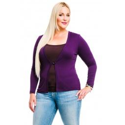 фото Жакет Mondigo XL 426. Цвет: баклажановый. Размер одежды: 48