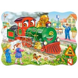 Купить Пазл 30 элементов Castorland «Зеленый локомотив»