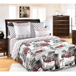 фото Комплект постельного белья Белиссимо «Лондон». 2-спальный. Размер простыни: 220х240 см