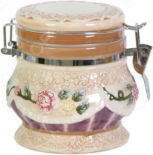 Банка для хранения сыпучих продуктов Коралл «Романтика» банка для хранения с ложкой коралл hc2012b d39 розы