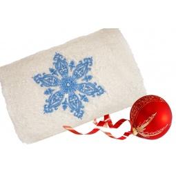 фото Полотенце подарочное с вышивкой TAC Snow flower. Цвет: белый