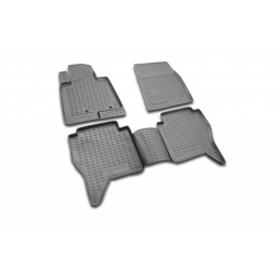 Комплект ковриков в салон автомобиля Novline-Autofamily Volvo XC60 2008 внедорожник. Цвет: бежевый - фото 7