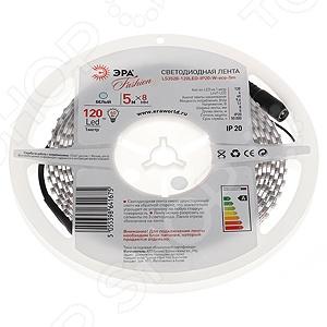Лента светодиодная Эра LS3528-120LED-IP65-W-eco-5m светодиодная лента эра ls3528 120led ip20 5m g 613634
