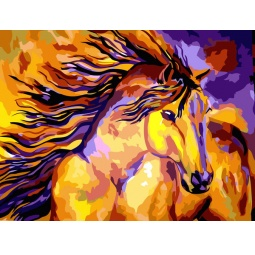 фото Набор для живописи на цветном холсте Белоснежка «Волшебная лошадь» 815-AB-C